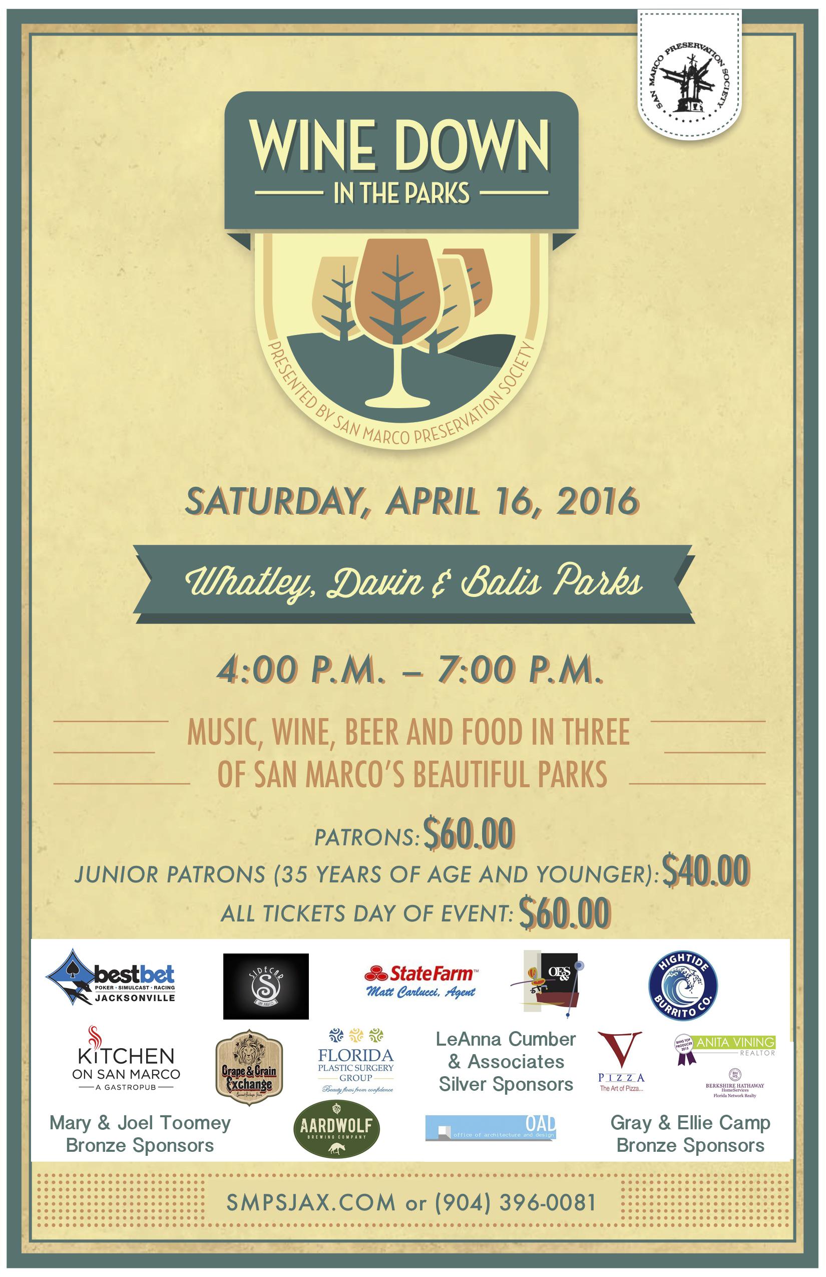 Wine Down in the Parks - 2106 Poster with Sponsors (1)